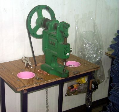 jeans button press