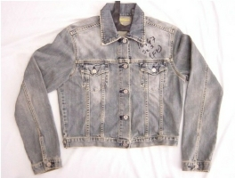 short denim jacket for girls or women